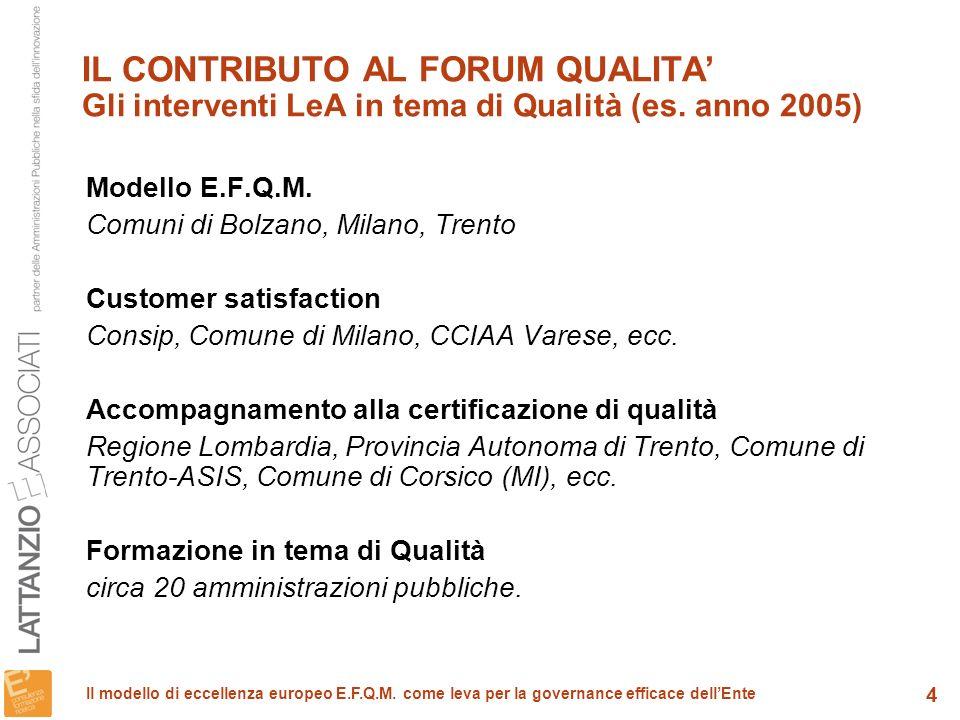 15 Il modello di eccellenza europeo E.F.Q.M.