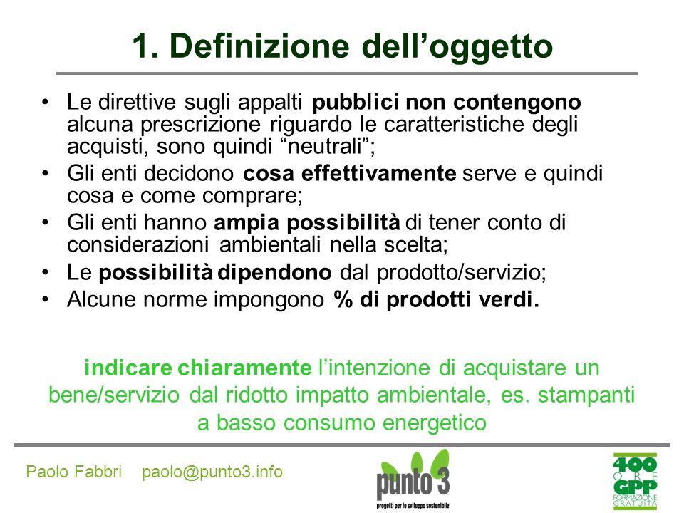 Paolo Fabbri paolo@punto3.info 1.