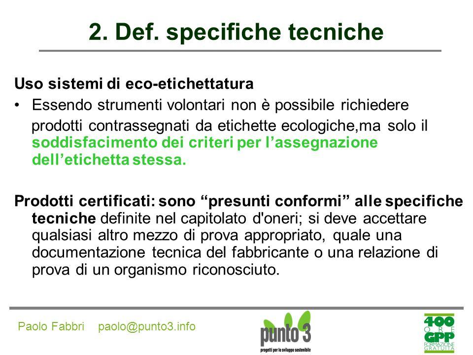 Paolo Fabbri paolo@punto3.info 2.Def.