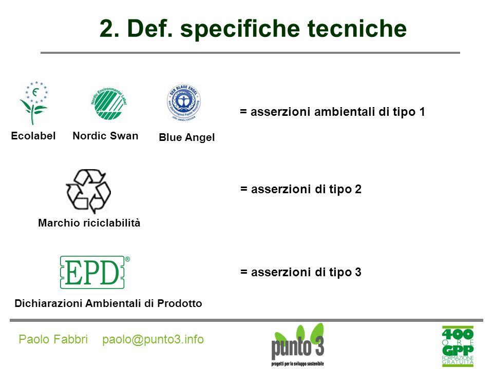 Paolo Fabbri paolo@punto3.info 3.