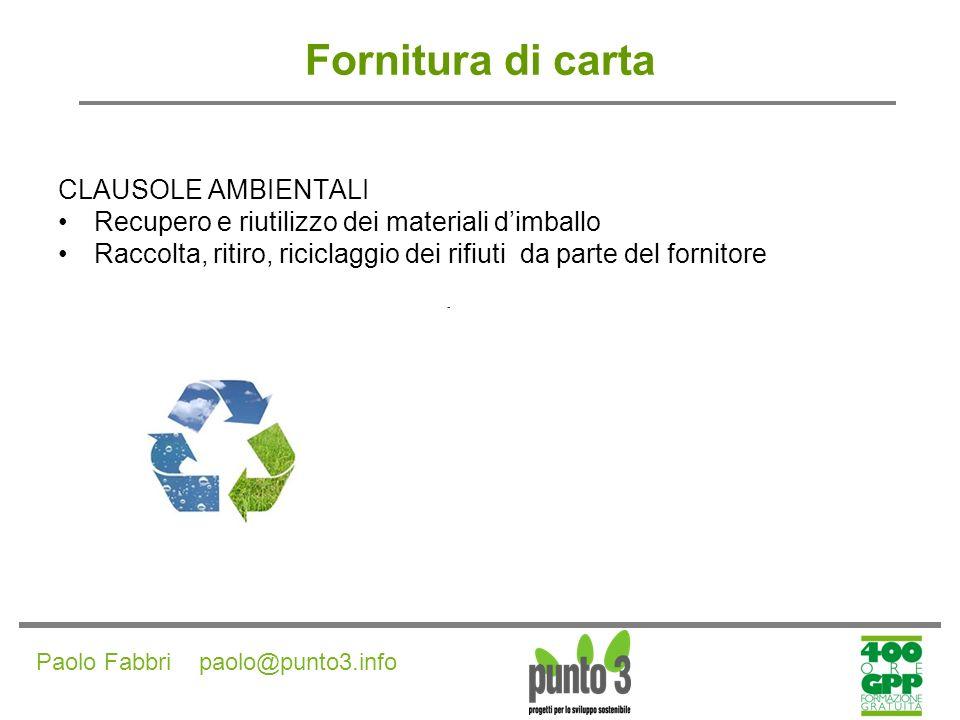 Paolo Fabbri paolo@punto3.info Fornitura di prodotti per distributori automatici