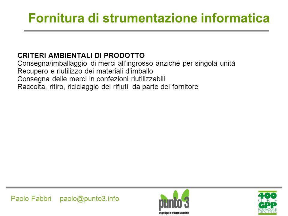 Paolo Fabbri paolo@punto3.info Fornitura di arredi esterni in legno