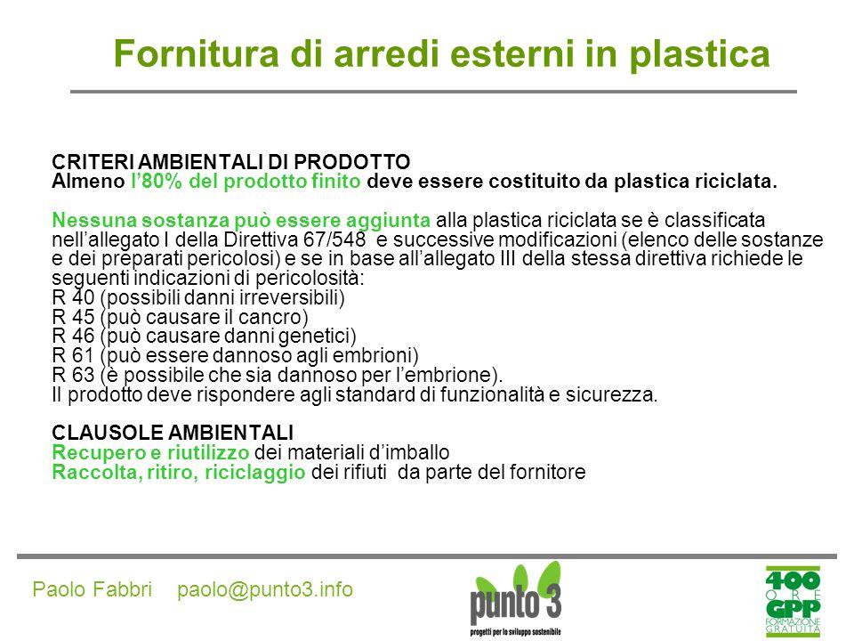 Paolo Fabbri paolo@punto3.info Fornitura di vernici per interni