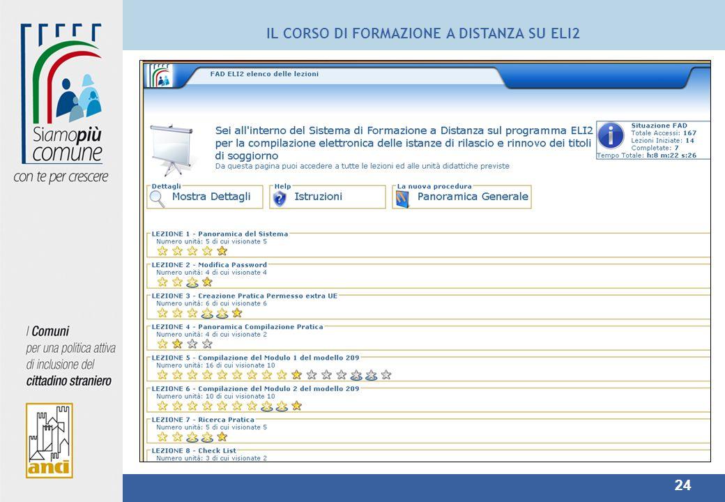 24 IL CORSO DI FORMAZIONE A DISTANZA SU ELI2