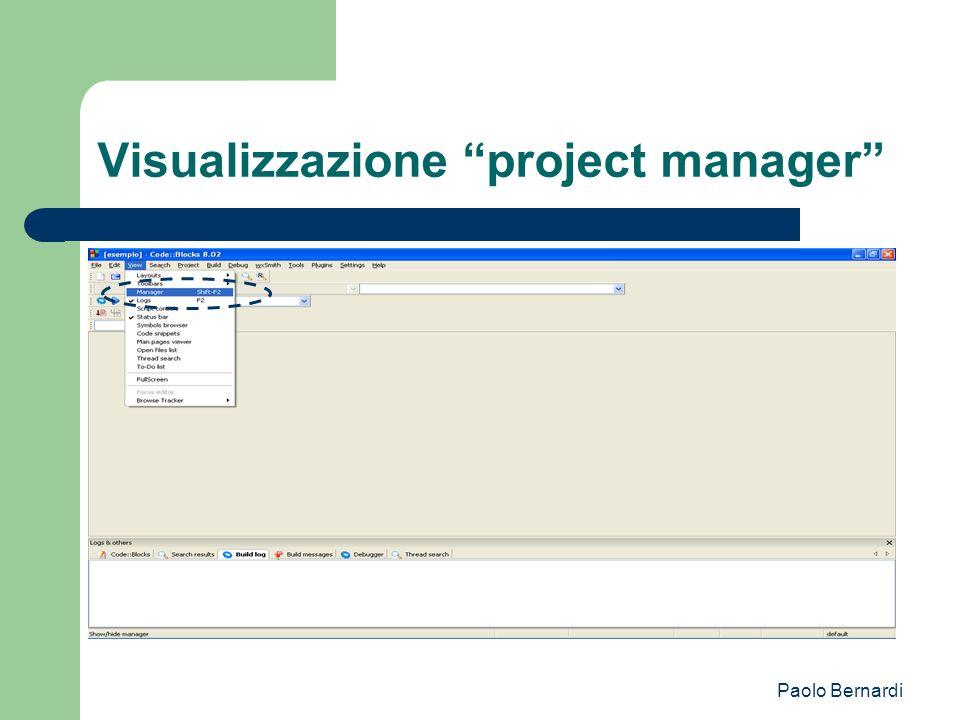 Paolo Bernardi Visualizzazione project manager