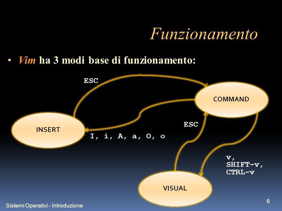 Sistemi Operativi - Introduzione 7 Primi passi...