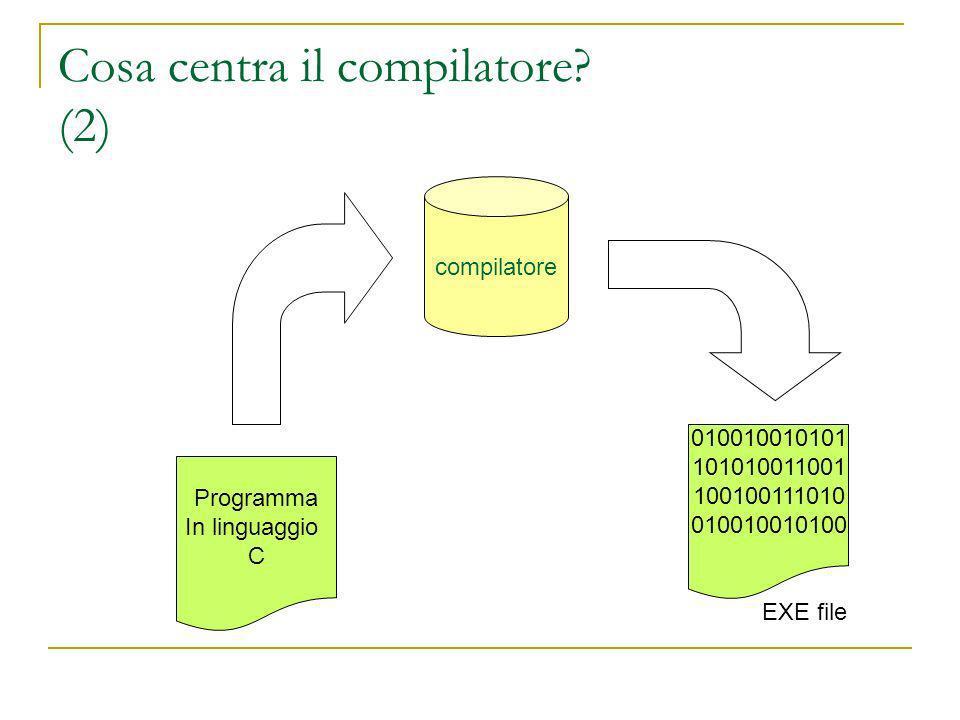 Cosa centra il compilatore.