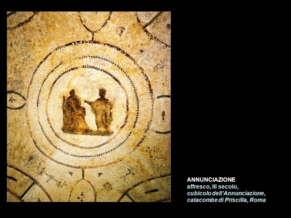 ANNUNCIAZIONE affresco, III secolo, cubicolo dellAnnunciazione, catacombe di Priscilla, Roma