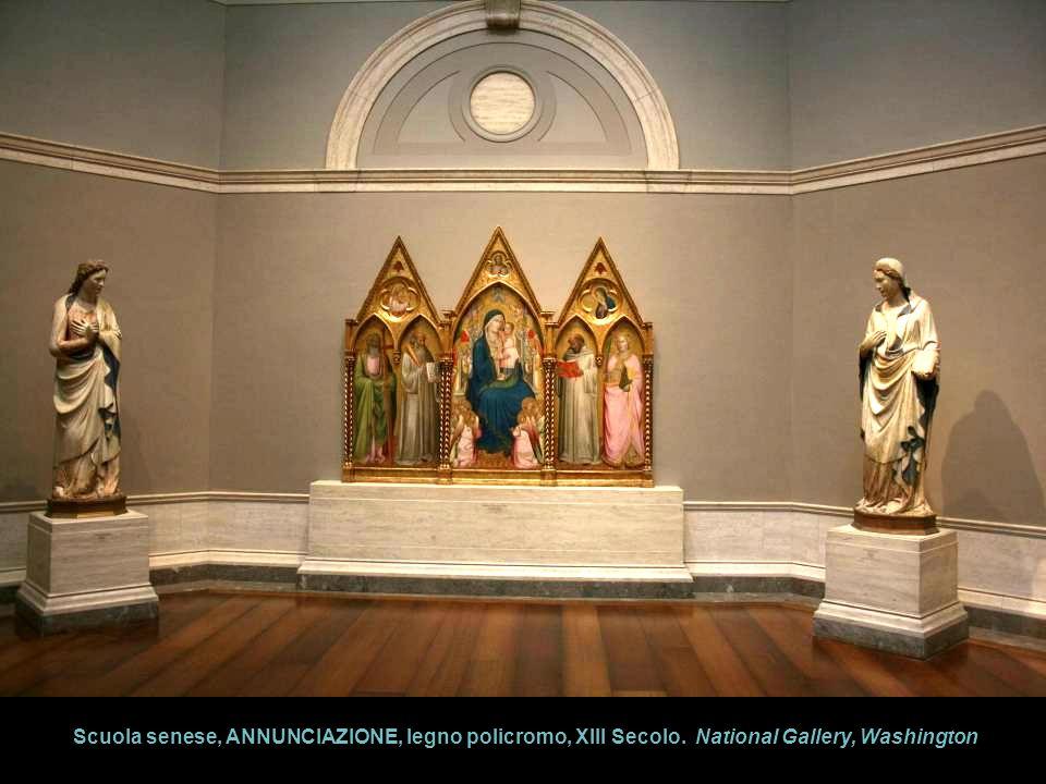 Scuola senese, ANNUNCIAZIONE, legno policromo, XIII Secolo. National Gallery, Washington