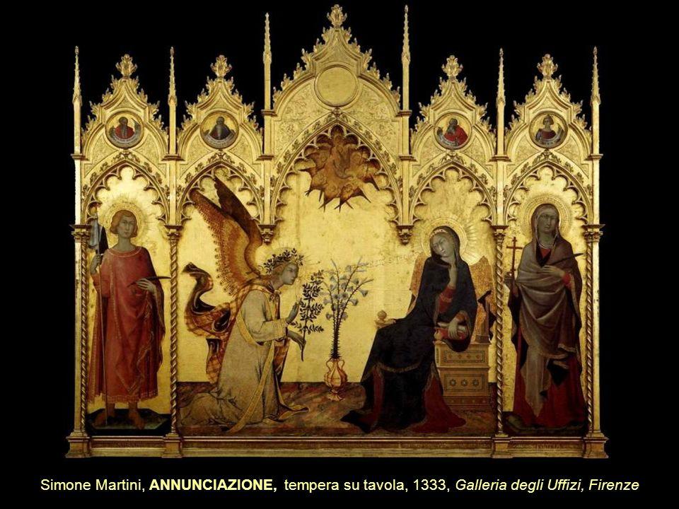Simone Martini, ANNUNCIAZIONE, tempera su tavola, 1333, Galleria degli Uffizi, Firenze