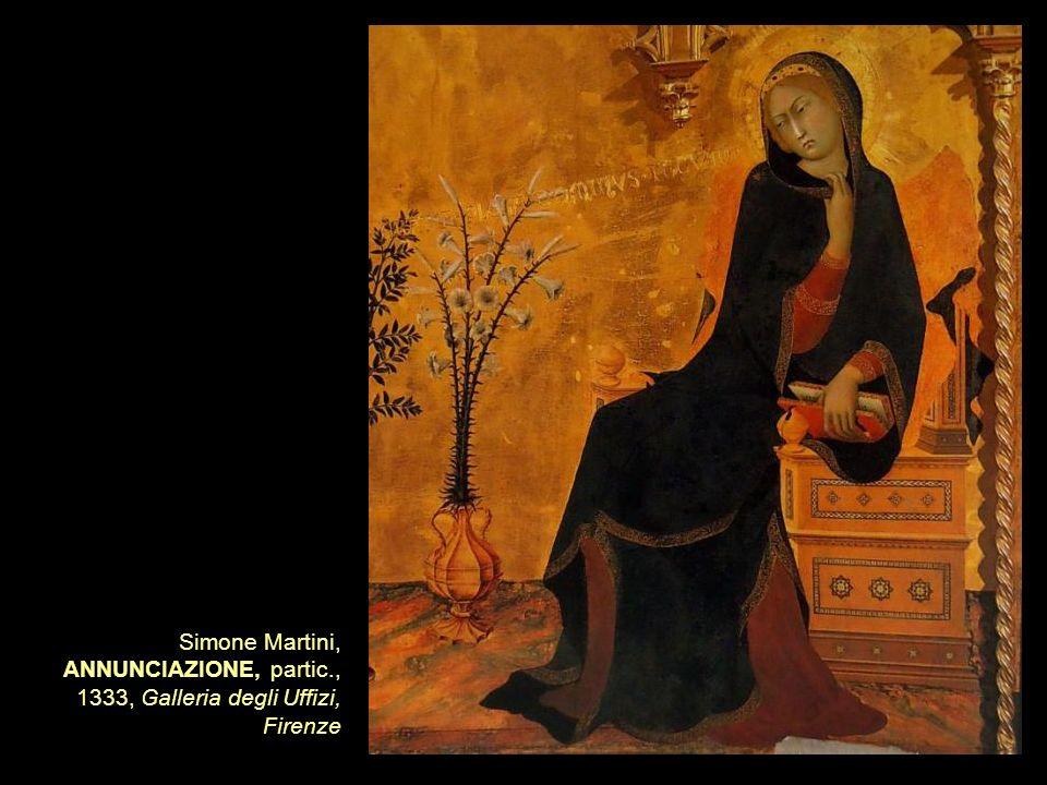 Simone Martini, ANNUNCIAZIONE, partic., 1333, Galleria degli Uffizi, Firenze