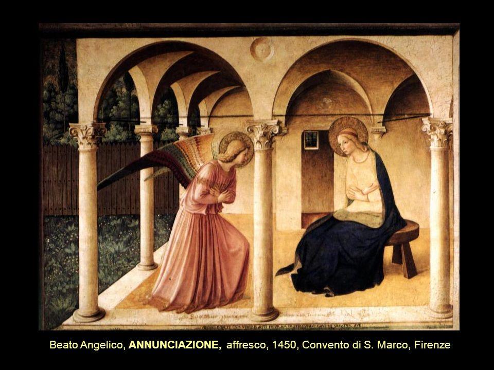 Beato Angelico, ANNUNCIAZIONE, affresco, 1450, Convento di S. Marco, Firenze