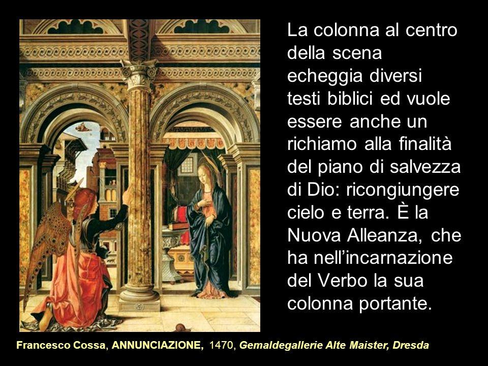 La colonna al centro della scena echeggia diversi testi biblici ed vuole essere anche un richiamo alla finalità del piano di salvezza di Dio: ricongiu