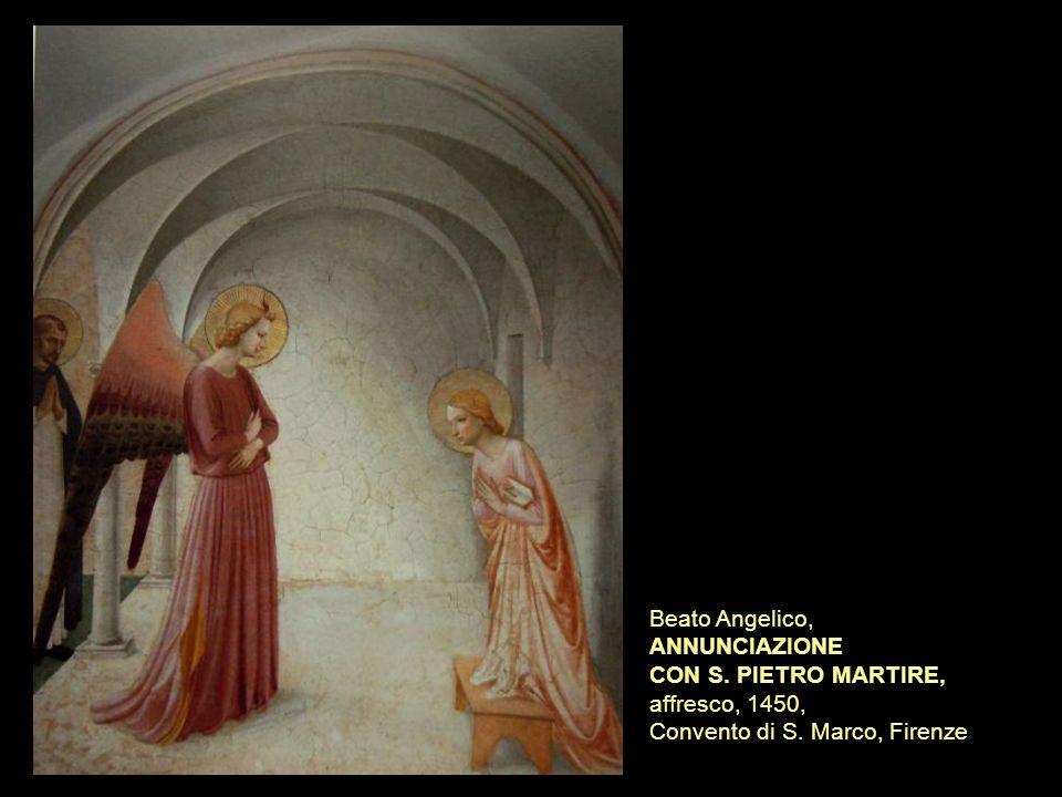 Beato Angelico, ANNUNCIAZIONE CON S. PIETRO MARTIRE, affresco, 1450, Convento di S. Marco, Firenze