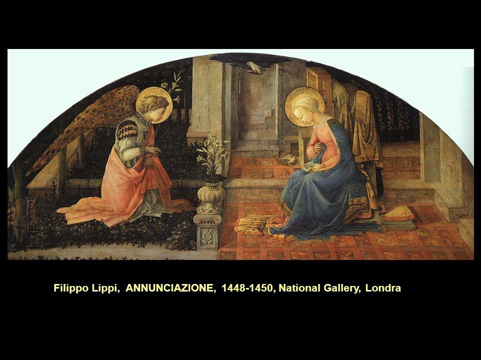 Filippo Lippi, ANNUNCIAZIONE, 1448-1450, National Gallery, Londra
