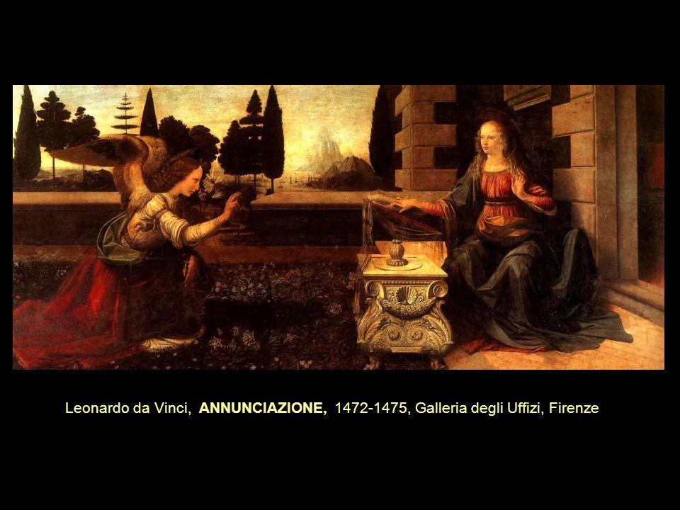 Leonardo da Vinci, ANNUNCIAZIONE, 1472-1475, Galleria degli Uffizi, Firenze