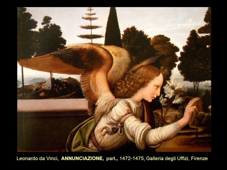 Leonardo da Vinci, ANNUNCIAZIONE, part., 1472-1475, Galleria degli Uffizi, Firenze