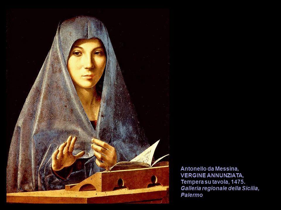 Antonello da Messina, VERGINE ANNUNZIATA, Tempera su tavola, 1475. Galleria regionale della Sicilia, Palermo
