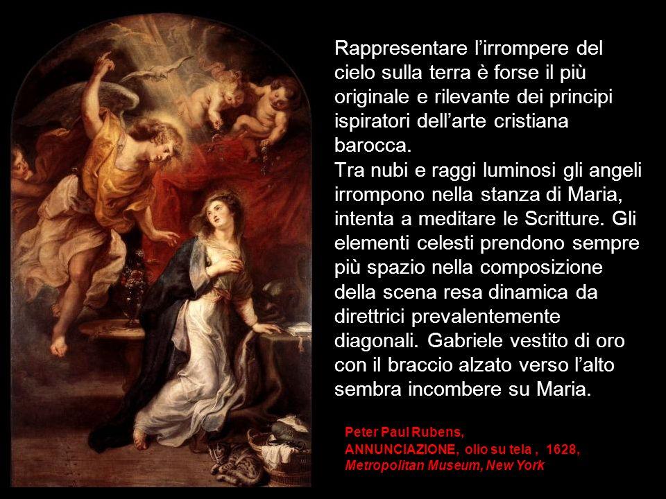 Rappresentare lirrompere del cielo sulla terra è forse il più originale e rilevante dei principi ispiratori dellarte cristiana barocca. Tra nubi e rag