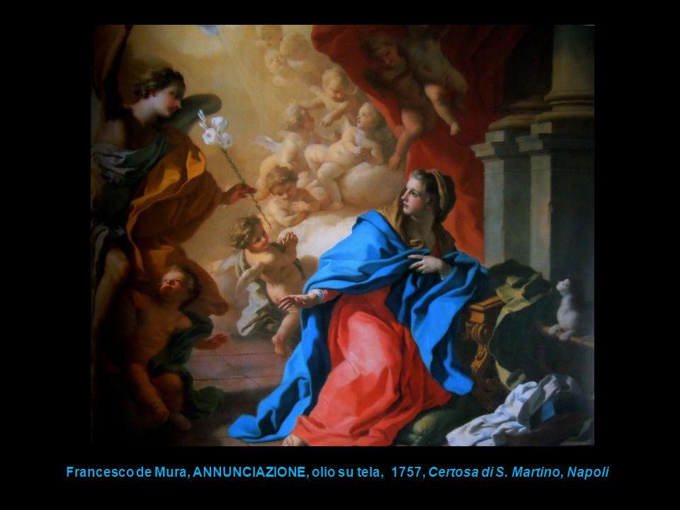 Francesco de Mura, ANNUNCIAZIONE, olio su tela, 1757, Certosa di S. Martino, Napoli