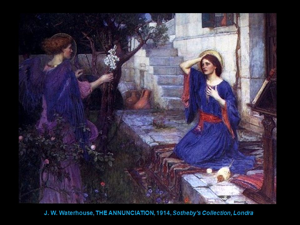 J. W. Waterhouse, THE ANNUNCIATION, 1914, Sotheby's Collection, Londra