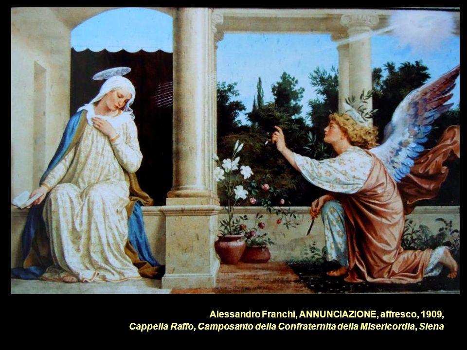 Alessandro Franchi, ANNUNCIAZIONE, affresco, 1909, Cappella Raffo, Camposanto della Confraternita della Misericordia, Siena