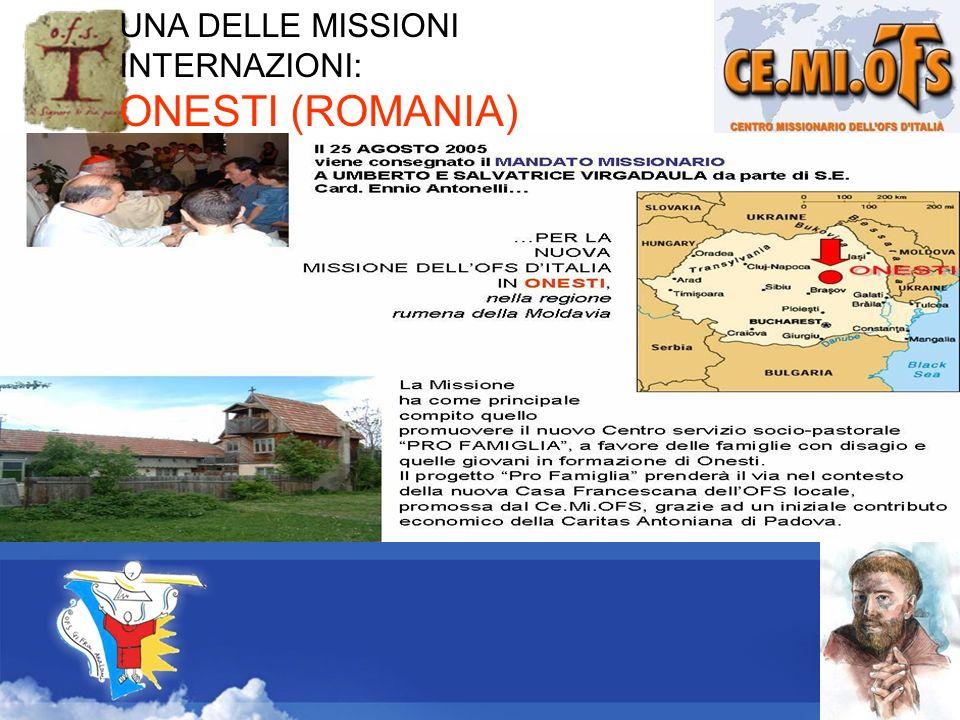 UNA DELLE MISSIONI INTERNAZIONI: ONESTI (ROMANIA)