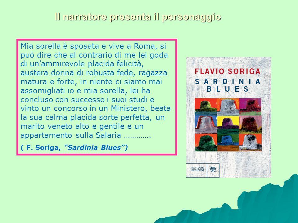 Il narratore presenta il personaggio Mia sorella è sposata e vive a Roma, si può dire che al contrario di me lei goda di unammirevole placida felicità