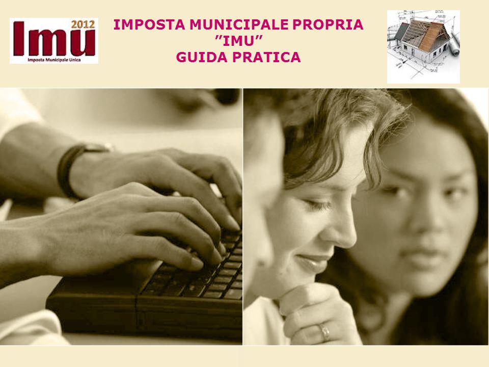 IMPOSTA MUNICIPALE PROPRIA IMU GUIDA PRATICA