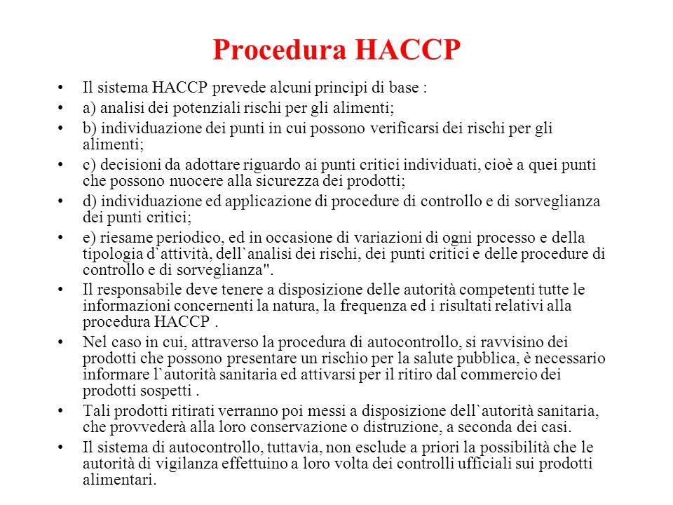 Segue… autorizzazione sanitaria Lautorizzazione viene rilasciata dal Sindaco previo parere favorevole della ASL. Il d.lgv. 155/1997 ha posto a carico