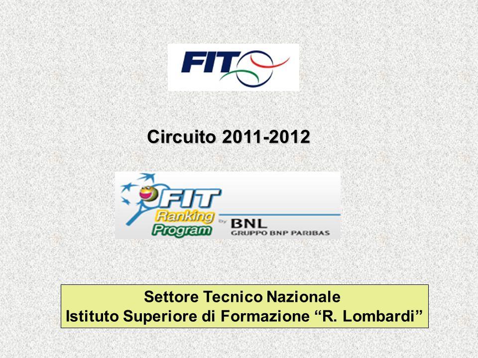 Settore Tecnico Nazionale Istituto Superiore di Formazione R. Lombardi Circuito 2011-2012