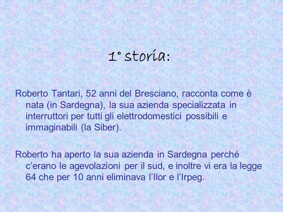1° storia: Roberto Tantari, 52 anni del Bresciano, racconta come è nata (in Sardegna), la sua azienda specializzata in interruttori per tutti gli elet
