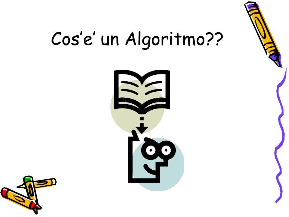 Cose un Algoritmo??
