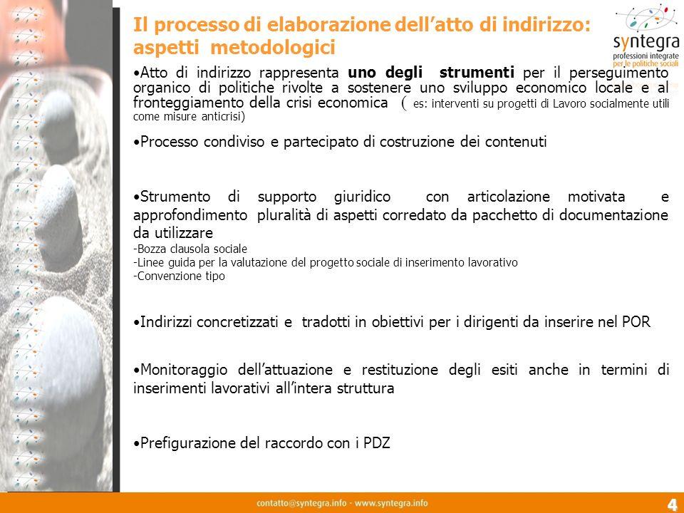 4 Il processo di elaborazione dellatto di indirizzo: aspetti metodologici Atto di indirizzo rappresenta uno degli strumenti per il perseguimento organ