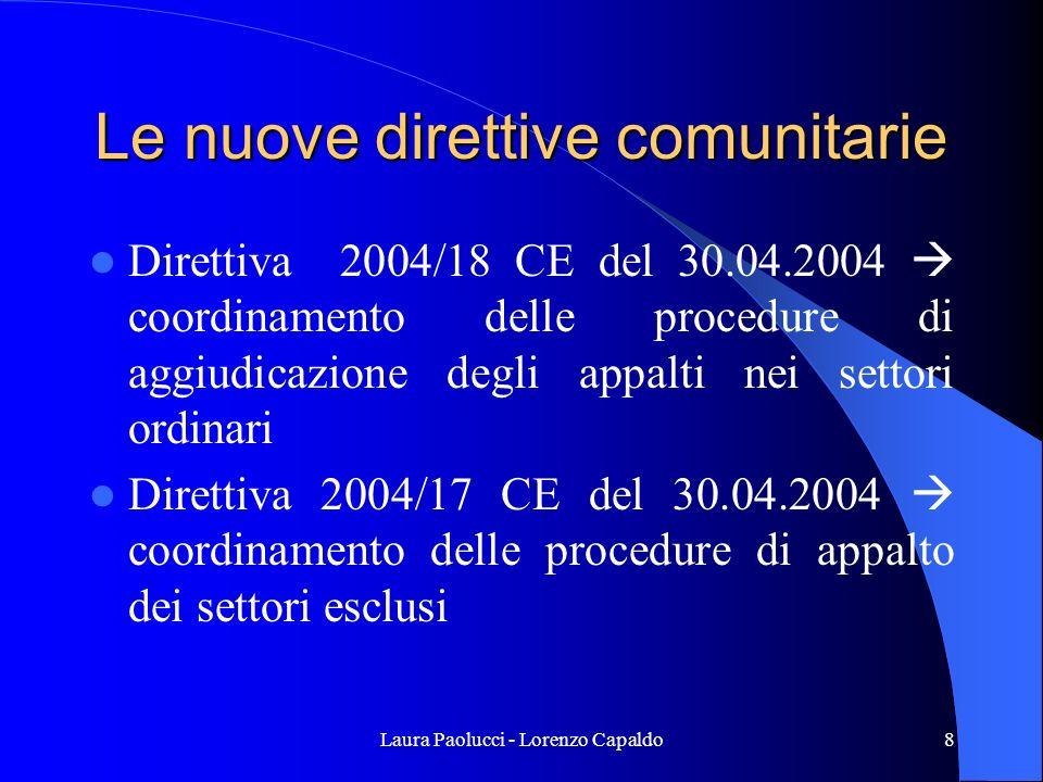 Laura Paolucci - Lorenzo Capaldo49 Il regime degli acquisti di cui allart.24,4°c, legge 289/2002 –abrogato- sono nulli I contratti stipulati in violazione del comma 1 o dell obbligo di utilizzare le convenzioni quadro definite dalla CONSIP Spa sono nulli.