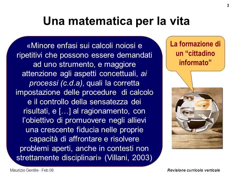 Revisione curricolo verticale 4 Maurizio Gentile - Feb.08 Esempio di prova (PISA 2003) Pensi che laffermazione del cronista sia uninterpretazione ragionevole del grafico.