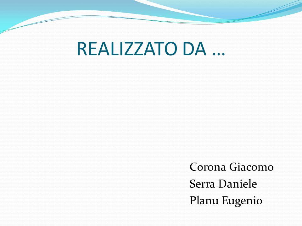 REALIZZATO DA … Corona Giacomo Serra Daniele Planu Eugenio