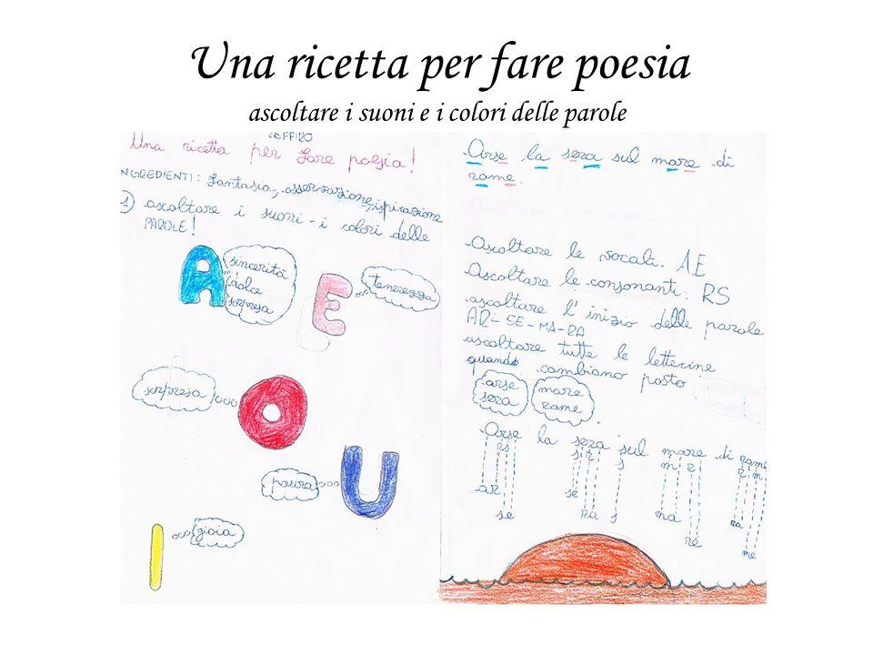 Una ricetta per fare poesia ascoltare i suoni e i colori delle parole