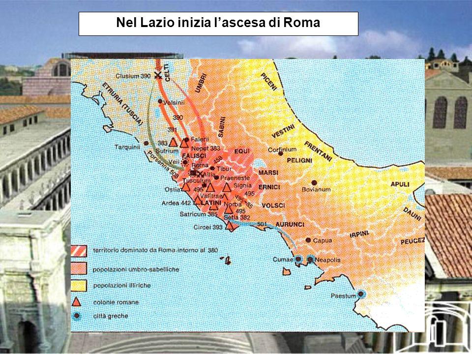 Nel Lazio inizia lascesa di Roma