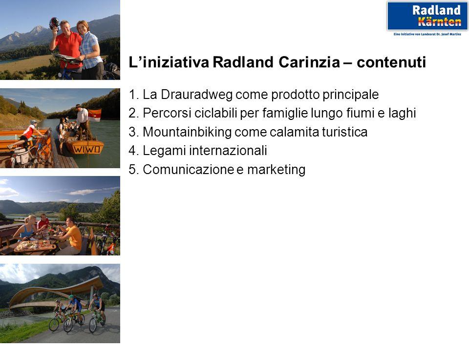 Liniziativa Radland Carinzia – contenuti 1. La Drauradweg come prodotto principale 2.