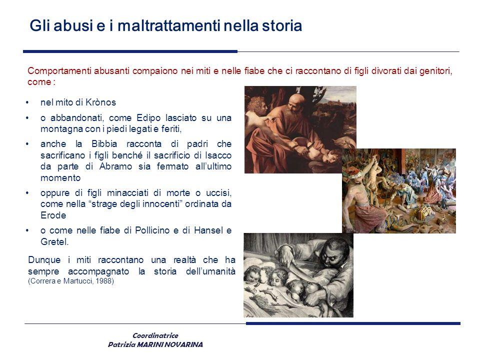 Coordinatrice Patrizia MARINI NOVARINA Gli abusi e i maltrattamenti nella storia Comportamenti abusanti compaiono nei miti e nelle fiabe che ci raccon