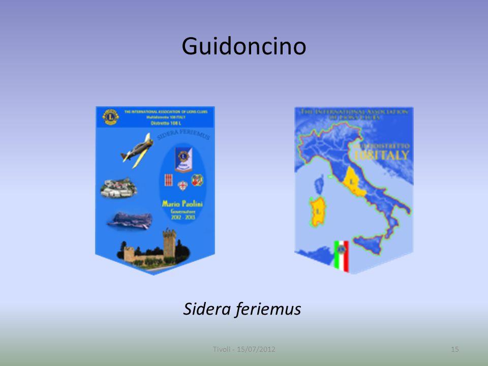 Guidoncino Sidera feriemus 15Tivoli - 15/07/2012