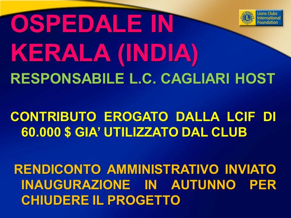 OSPEDALE IN KERALA (INDIA) RESPONSABILE L.C.