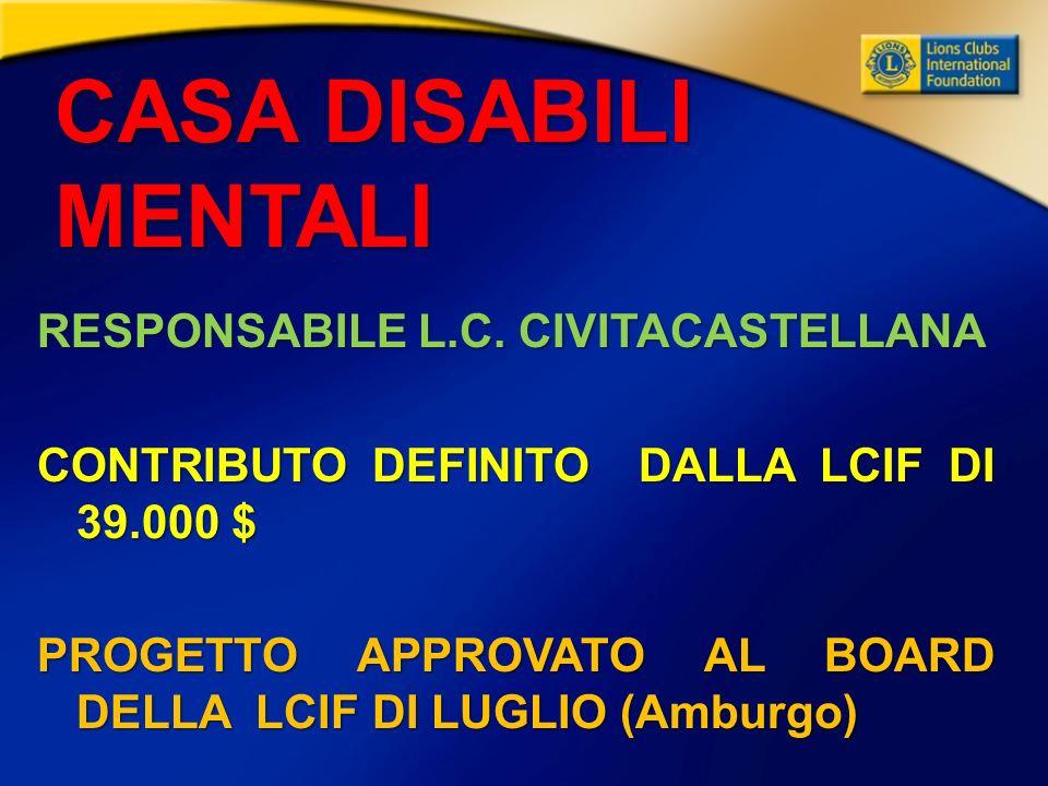 CASA DISABILI MENTALI RESPONSABILE L.C.