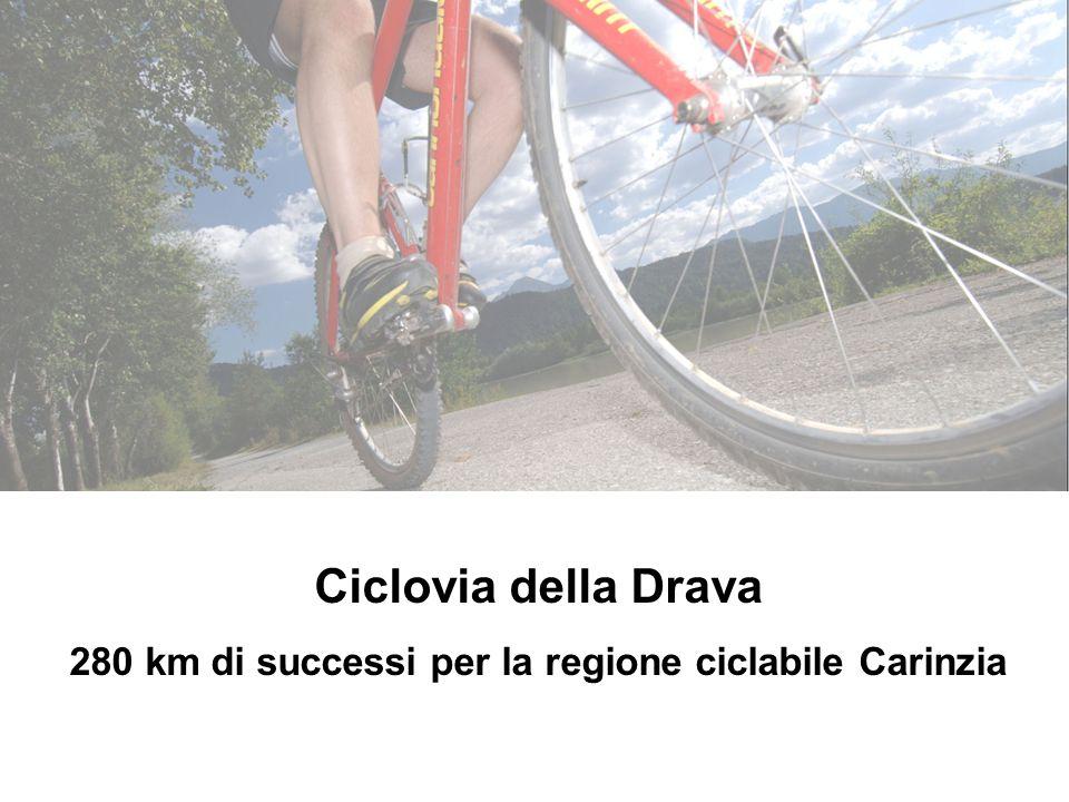 Ciclovia della Drava 280 km di successi per la regione ciclabile Carinzia