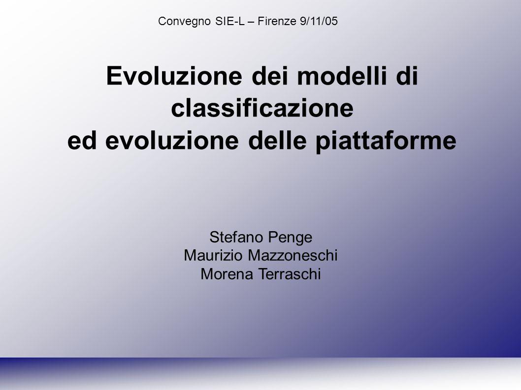 Convegno SIE-L – Firenze 9/11/05 Stefano Penge, Maurizio Mazzoneschi, Morena Terraschi - Lynx Ci sembra più interessante vedere questo modello in una prospettiva dinamica: Potremmo cioè parlare di fase mono-, bi- e tridimensionale, anche all interno di una stessa piattaforma.