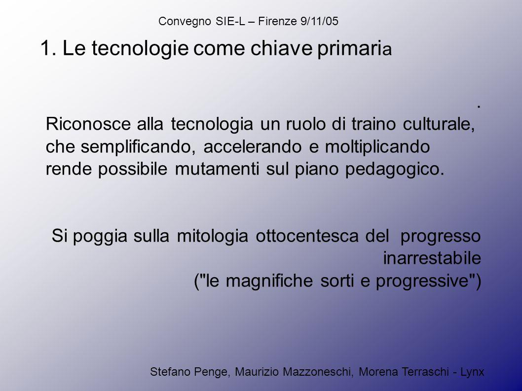 Convegno SIE-L – Firenze 9/11/05 Stefano Penge, Maurizio Mazzoneschi, Morena Terraschi - Lynx 1.
