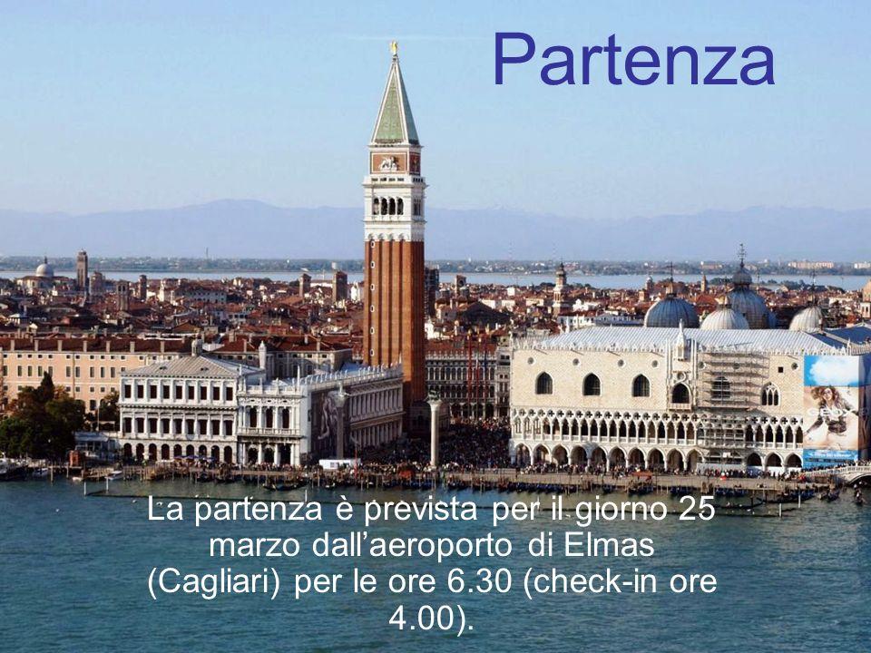 Alloggio Durante i tre giorni, si alloggerà allHotel Agli Artisti*** (Venezia nel quartiere di Cannaregio).