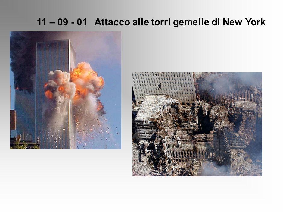 11 – 09 - 01Attacco alle torri gemelle di New York