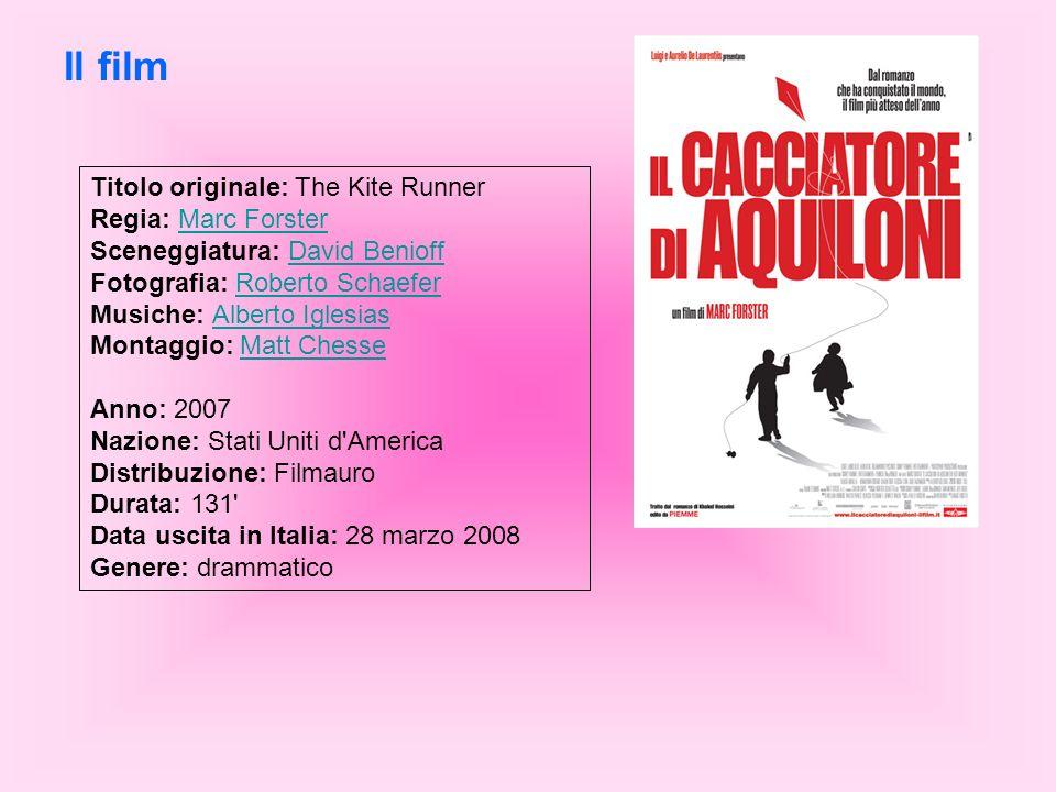 Titolo originale: The Kite Runner Regia: Marc Forster Sceneggiatura: David Benioff Fotografia: Roberto Schaefer Musiche: Alberto Iglesias Montaggio: M